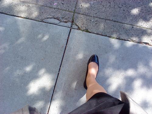Walking on Shotwell Street