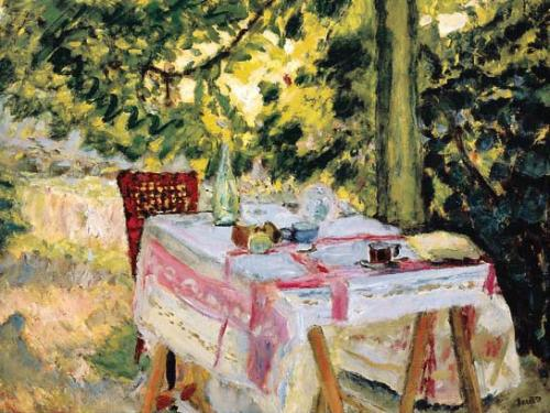 Table Set in a Garden - Pierre Bonnard